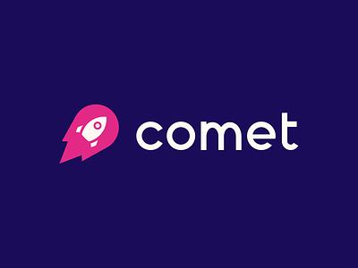 Comet branding dailylogochallenge rocketship rocket comet vector adobe illustrator logo design logo