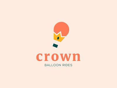Crown vector crown balloon hot air balloon dailylogochallenge branding logo design logo adobe illustrator