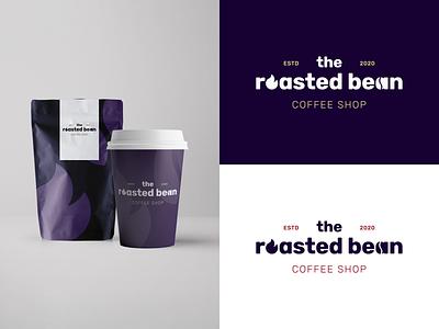 The Roasted Bean coffee shop coffee vector dailylogochallenge branding logo design logo adobe illustrator