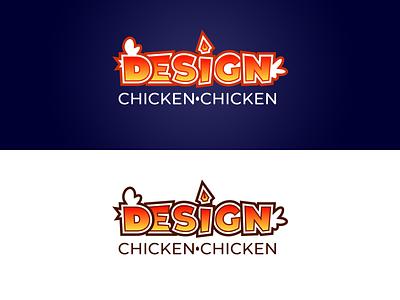Design Chicken Chicken arcade game videogame retro gaming vector branding logo design logo adobe illustrator