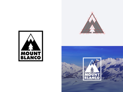 Mount Blanco mountain dailylogochallenge vector branding logo design logo adobe illustrator