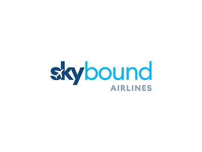 Skybound negative space logo airplane airlines dailylogochallenge vector branding logo design logo adobe illustrator