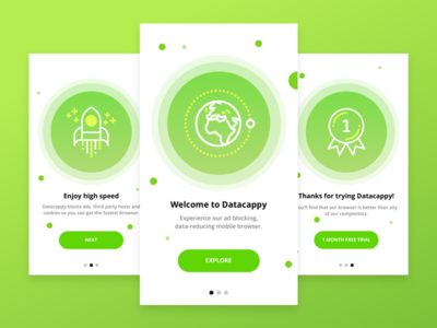 Datacappy screens intro mobile ios inspiration dribbble design application app