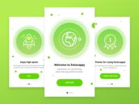 Datacappy screens intro mobile ios inspiration dribbble design application app