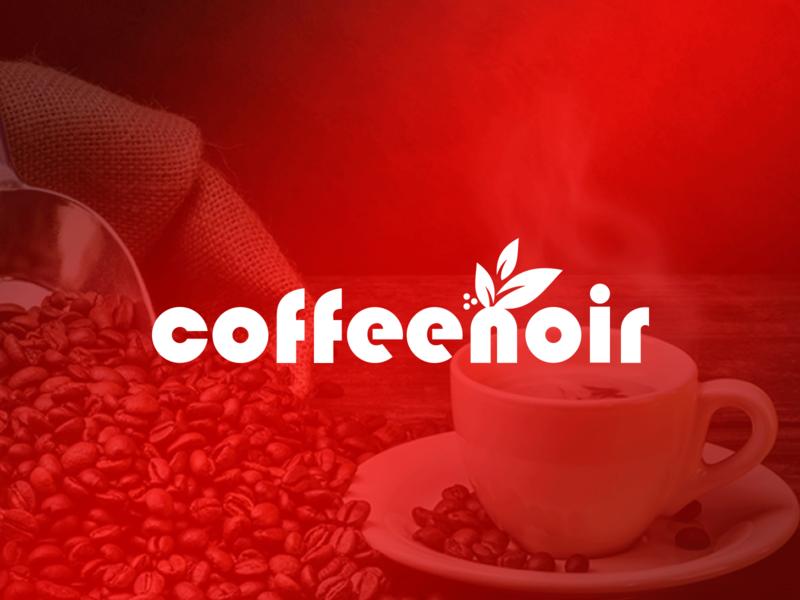 Logo Design for Coffee Noir coffee bean coffeeshop illustration logo designer branding vector design logo design coffee shop coffee noir coffee noir coffee logo