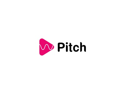 Daily Logo Challenge: Day 09- Pitch ( Music Streaming App) typography logodesign logo vector illustration designer logo design branding app logo design app logo pitch logo music app
