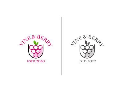 Daily Logo Challenge: Day 17 (Vine & Berry) logotype typography logo logodesign vector design designer illustration logo design vines