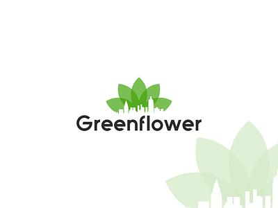 Daily Logo Challenge: Day 22 | Greenflower+ City concept logotype logo vector design illustration branding logo design logodesign dailyuichallenge dailylogo city logo greenflower