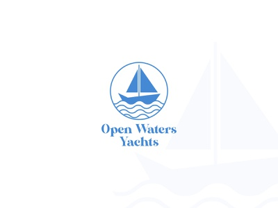 Daily Logo Challenge: Day 23 - Open Waters Yachts sumit dailylogo concept logotype typography logo vector open water yachts designer branding logo design dailylogodesign dailylogochallenge