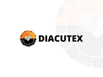 DIACUTEX logo Design minimal logo simple sketch logo designer symbol blade logo saw blade