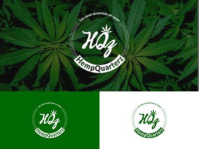 Hemp Quarterz Logo Design design logotype logodesign designer logo design branding hemp oil hemp logo hemp