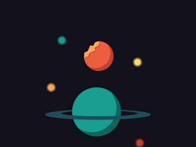 Bite on Planets Animation galaxy planet inspiration designer design move world effects aftereffects animation