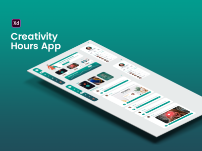 Creativity Hours App inspiration webdesign web designer design app design uxui ux ui administrative group creativity time hour app