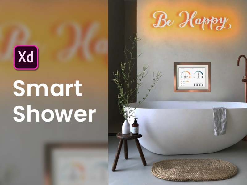 Smart Shower App inspiration designer app design pressure tempeture music design tub shower smart app