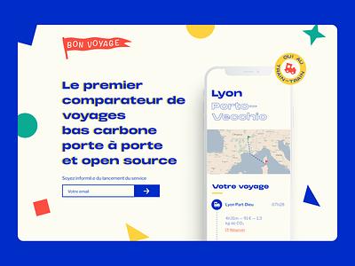 Bon voyage app travel landingpage web branding typography ux brand design ui product design app design