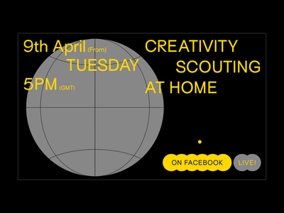 Creativity Scouting At Home // Landing page landing page typogaphy clean minimal motion website web ux ui interaction design