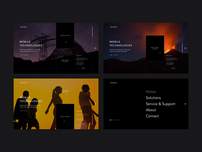 NeoSoft // Homepage & Menu menu homepage clean minimal website web ux ui