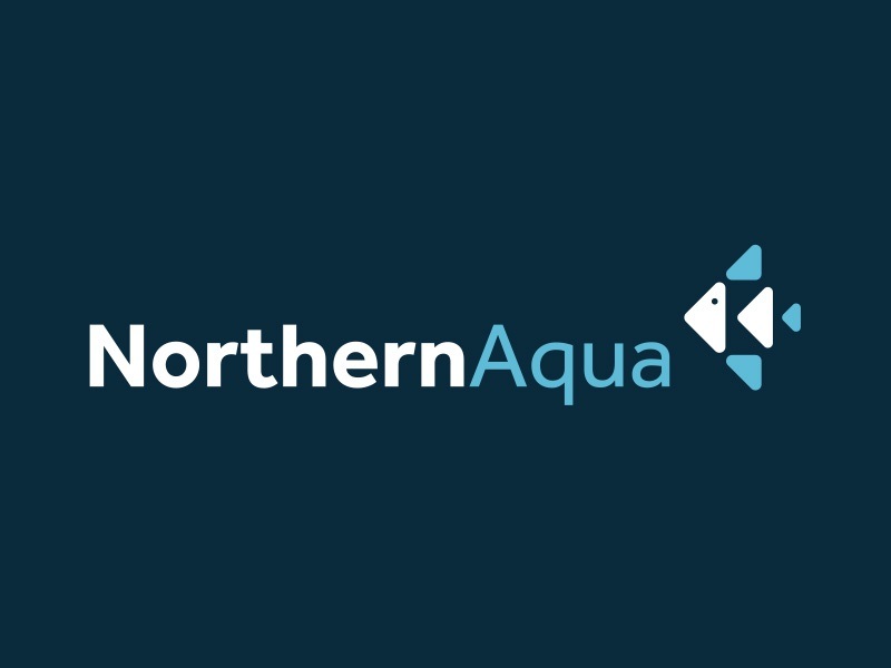 Northern Aqua Logo aquatic fish identity marque branding logo