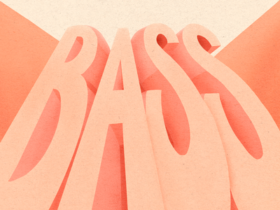 All about that B A S S 3d text scale large scale large type texture procreate lettering procreate illustration illustrative lettering music bass music 3d lettering perspective 3d type lettering