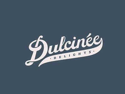 Dulcinee Delights Logo + Branding handlettering identity design brand identity brand design branding bakery cake classy vintage lettering retro script lettering script logo design logo