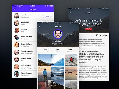 iOS app for travellers application design app ios
