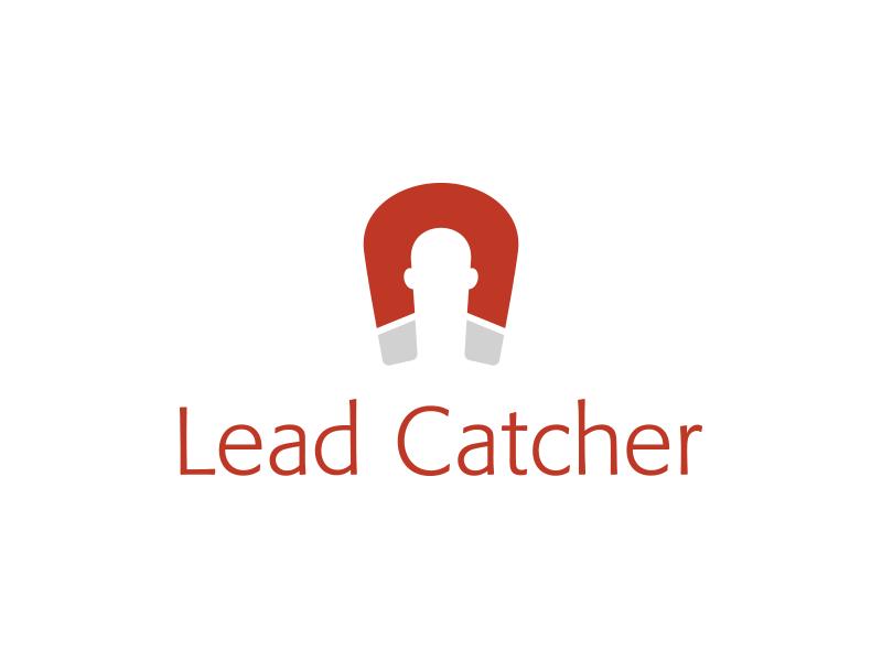 Lead Catcher Logo typography graphic design branding brand logo