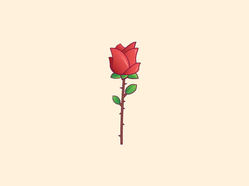 Rose Vector By Stefan Mihaylov Dribbble Dribbble
