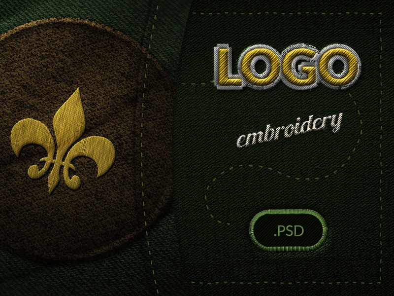 Embroidery Logo Display Psd Mockup By Stefan Mihaylov Dribbble