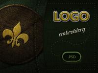 Embroidery Logo Display PSD Mockup