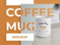 Coffee Mug Branding PSD Mockup