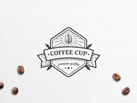 Placeholder Coffee Logo Badge Template for PSD