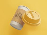 Coffee Cup Branding Mockup [Scene 3]