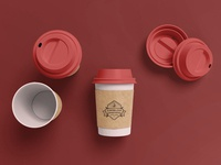 Coffee Cup Branding Mockup [Scene 4]