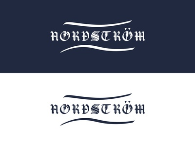 NORDSTROM Gothic Style Hand Lettered Logotype