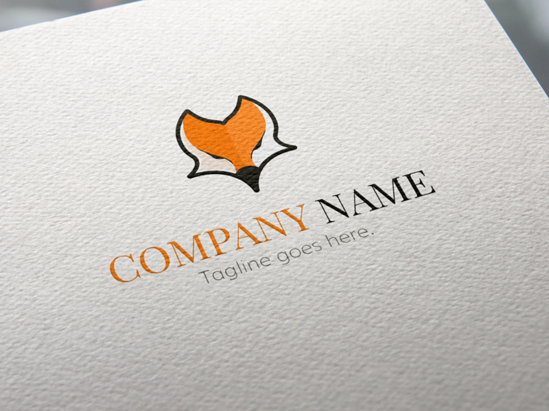 Fox Head Logo Template animal cute illustration orange template fox logo fox