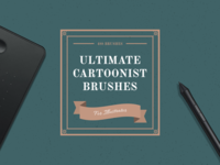 Ultimate Cartoonist Brushes Kit for Illustrator v2.0