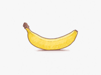 Banana Pencil Vector Illustration