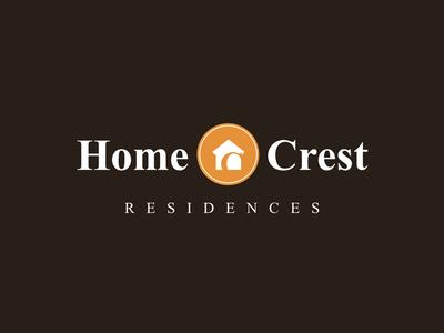 Home Crest Residences Logo - Inverted logo identity branding