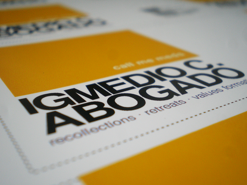 Igmedio Abogado - Business Card print business card