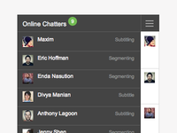 Online Users - Chatter (WIP) off-canvas user interface chat