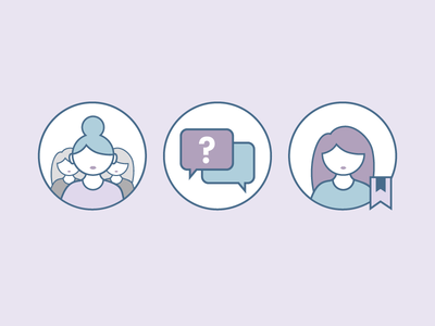 Lavender Chat Icons