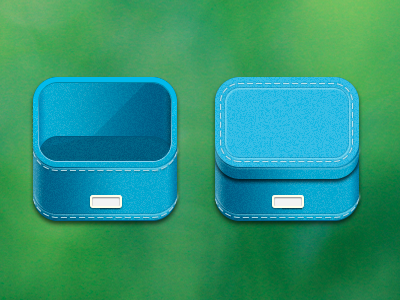 Blue Boxes app icons illustration storage blue container