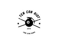Ten Can Riot punk band logo music logo