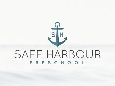 Safe Harbour Preschool brand identity logo