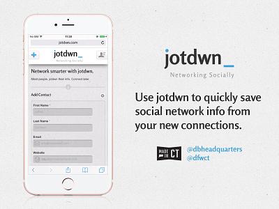jotdwn web app responsive mobile first