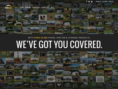 ShelterLogic.com Mosaic Layout responsive web design