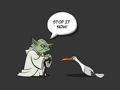 Seagulls, Stop It Now! yoda star wars t-shirt illustration
