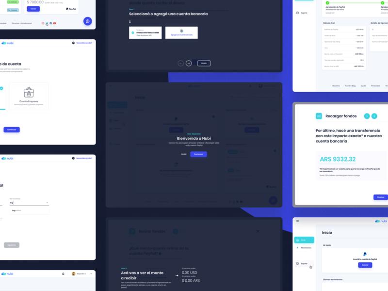 Nubi - User Account web app screens money bank indicius platform account illustration design ui ux argentina fintech paypal nubi