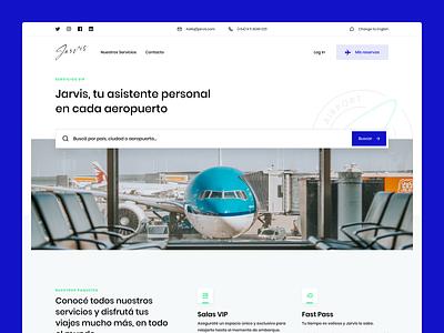 Jarvis Web App Design website argentina web app design landing page sleek ux ui experience premium fly airport design indicius