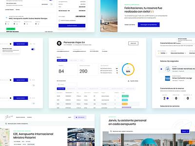 Jarvis Web App Design web app design website argentina dashboard sleek ux ui experience premium fly airport design indicius